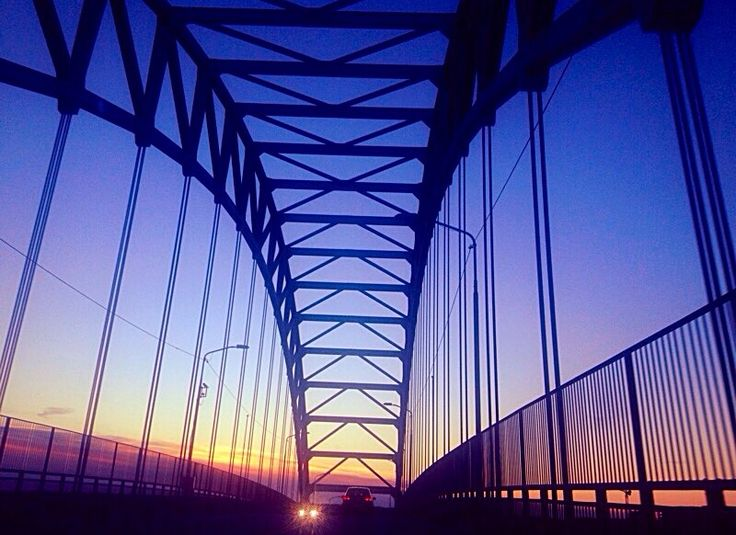 Bridge in Norway, Fredrikstad.