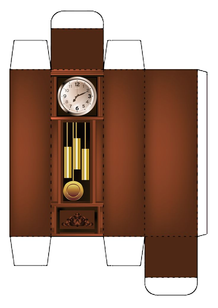 My grandfather clock template 1