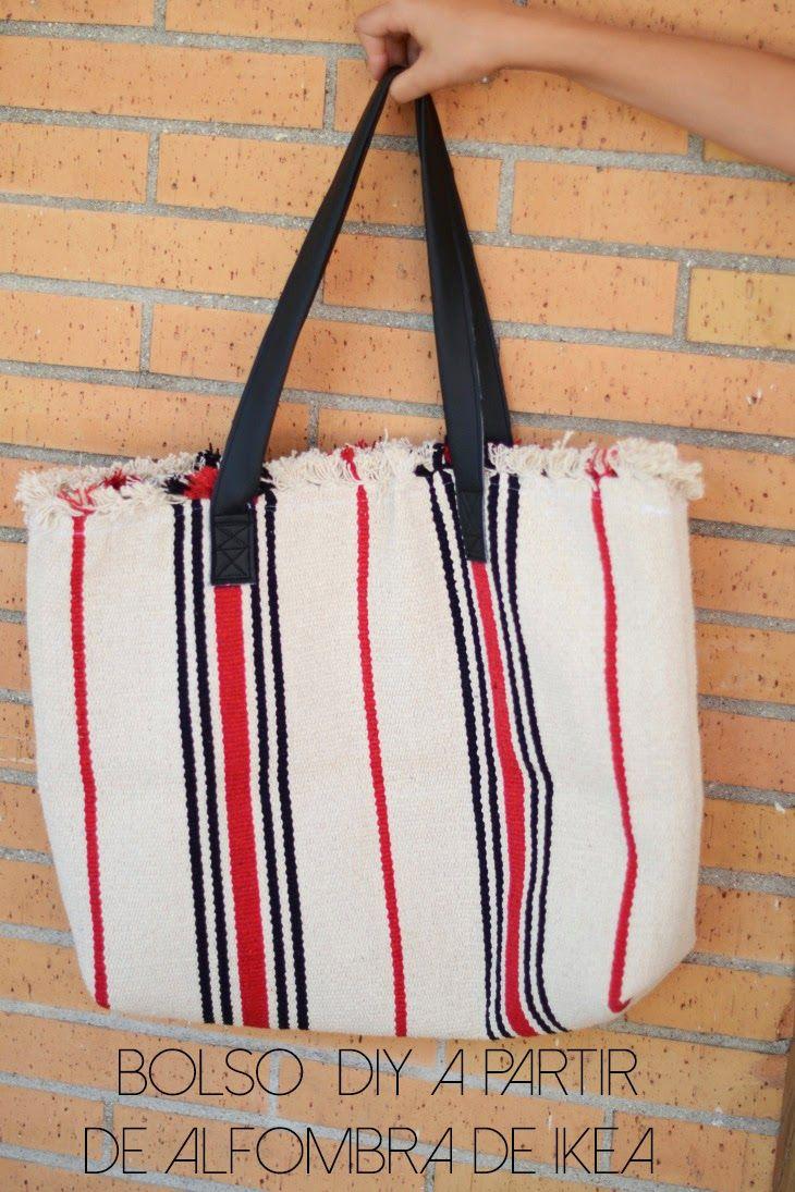 Oro y Menta: Hazte un bolso de verano a partir de la alfombra Signe de Ikea