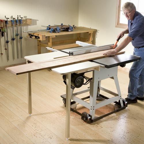 Rockler Table Saw Outfeed Table: Designed To Fit Most Cabinet And  Contractor Style Saws.