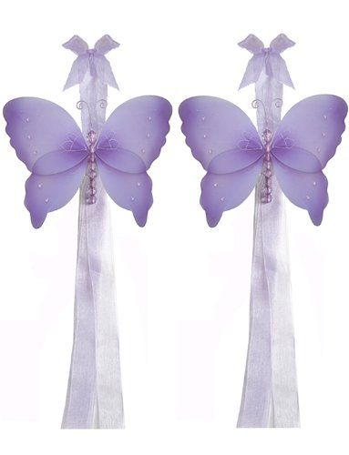 Butterfly Tiebacks Purple (Lavender) Crystal Nylon Butterflies Tieback Pair / Set Decorations - Window Curtains Holder Holders Tie Backs to Decorate for a Baby Nursery Bedroom, Girls Room Wall Decor, Wedding Birthday Party, Bridal Baby Shower, Bathroom, Curtain Decoration Bugs-n-Blooms http://smile.amazon.com/dp/B00F8KV7WW/ref=cm_sw_r_pi_dp_.qkMtb1RF073TZHE