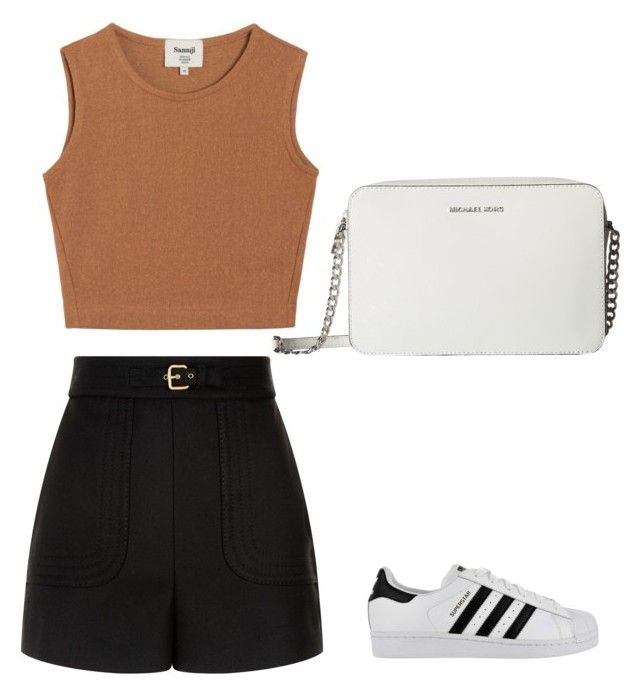 """""""Untitled #113"""" by anais-maria on Polyvore featuring RED Valentino, Samuji, adidas and MICHAEL Michael Kors"""