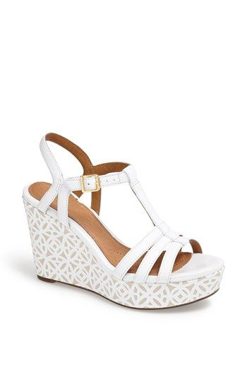 Wedding shoes? Need comfortable and high...Clarks® 'Amelia Avery' Platform Wedge Sandal | Nordstrom
