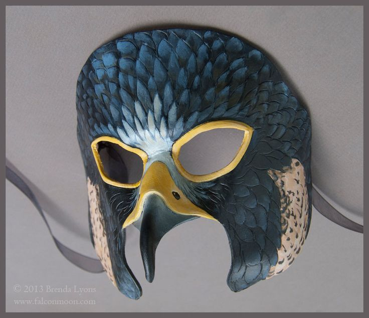 Peregrine Falcon - Leather Mask by windfalcon on DeviantArt