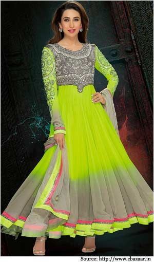 The beauty of the designer Anarkali suit is often seen at the fashion shows or red carpet events worn by gorgeous models and actresses, there-by reflecting the brilliant sense of fashion among the Indian designers.