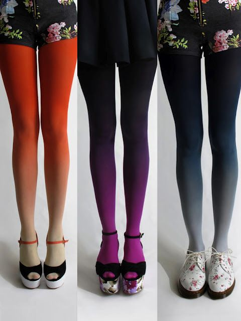 Ombre Tights - Love the purple ones!: Fashion, Style, Tights Super, Clothes, Ombré Tights, Ombre Leggings, Ombre Tights Love, Accessories, Gradient Tights