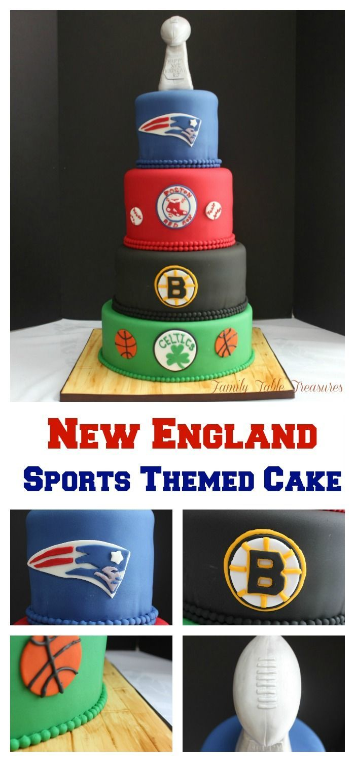 New England Sports Themed Cake