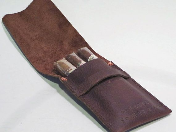 Check out this item in my Etsy shop https://www.etsy.com/listing/257805163/leather-3-finger-cigar-case-holder