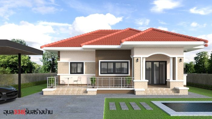Wonderful One Storey House Designs With Three Bedrooms Ulric Home In 2020 Small House Design House Plan Gallery House Construction Plan