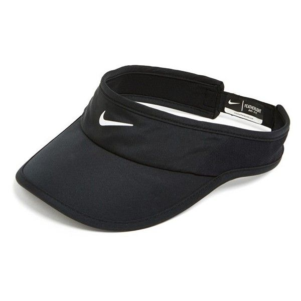 Women's Nike 'Feather Light 2.0' Dri-FIT Visor ($21) ❤ liked on Polyvore featuring accessories, hats, nike and sun visor