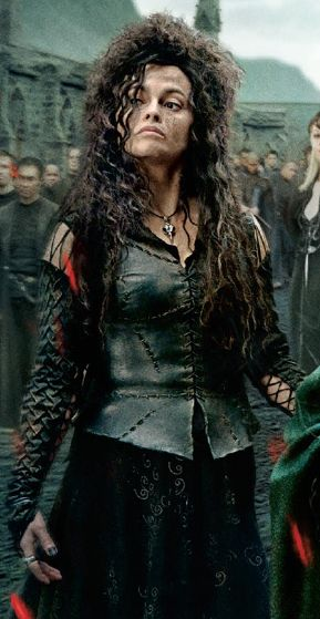Bellatrix Lestrange during the Battle of Hogwarts.
