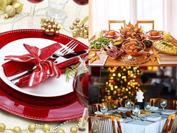 Decoração de natal deixar a sua mesa incrível. Fotos e dicas.