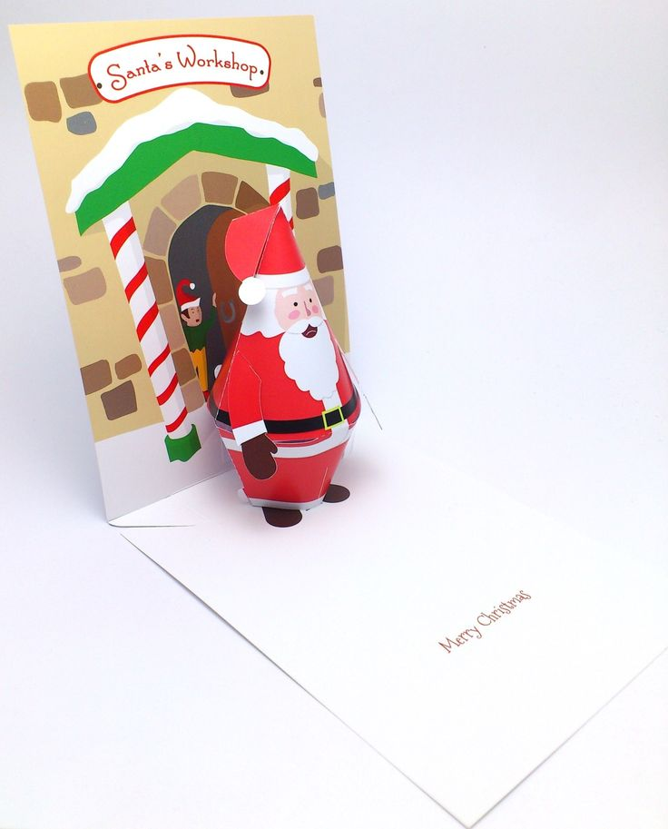 3D Santa Claus Christmas card