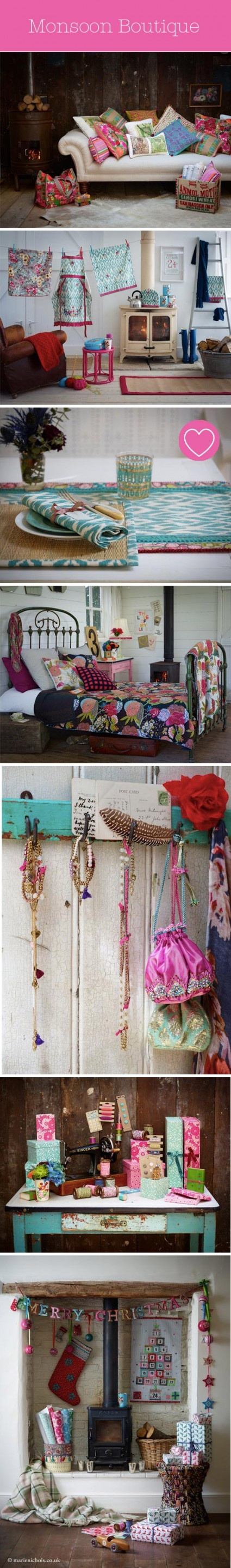 Monsoon Home :: Styled by Marie Nichols: Decoration, Yummy Pinks