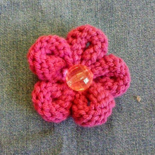 Tejiendo A Dos Agujas Recetas Para Cocinar Pinterest Crochet - Como-hacer-una-flor-de-lana
