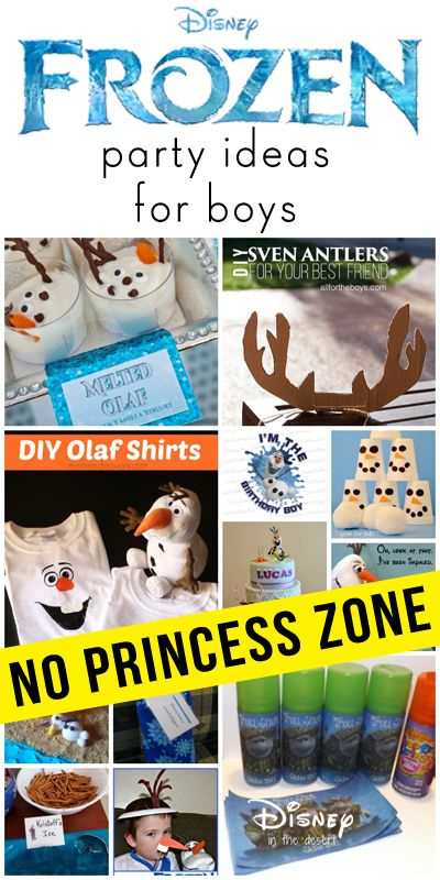 Want to throw a Frozen party without all the girly decorations and games? Here are our favorite ideas so you can have a Frozen party for boys.