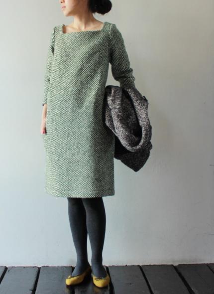 love this tweed/wool dress. beautiful