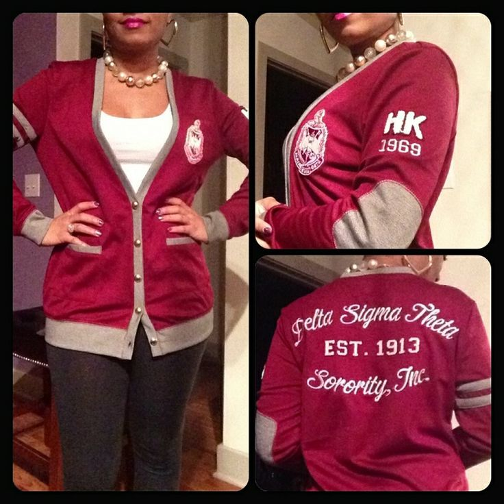 The Collegiate Collection DST Varsity Cardigans Delta Sigma Theta Sweater! Delta Sigma Theta Cardigan!