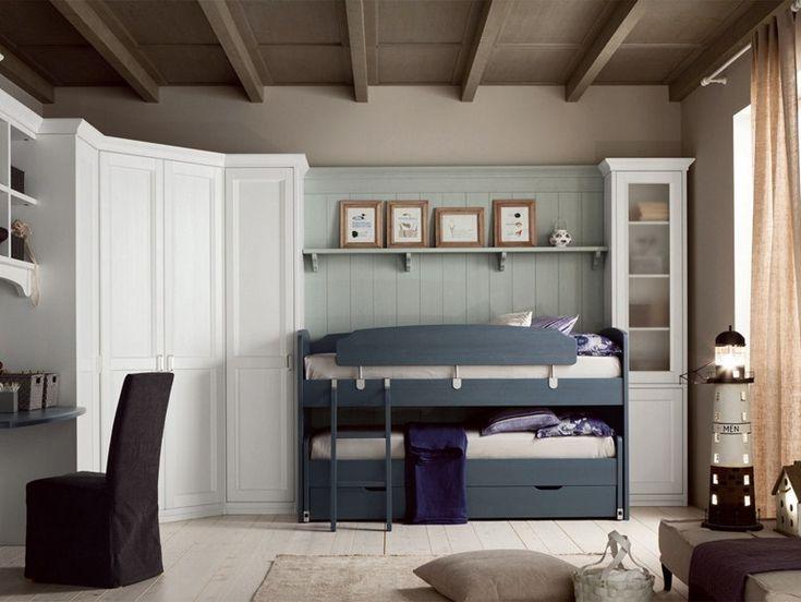 Habitación para niños/niñas con cama alta NUOVO MONDO N15 Colección Nuovo Mondo by Scandola Mobili