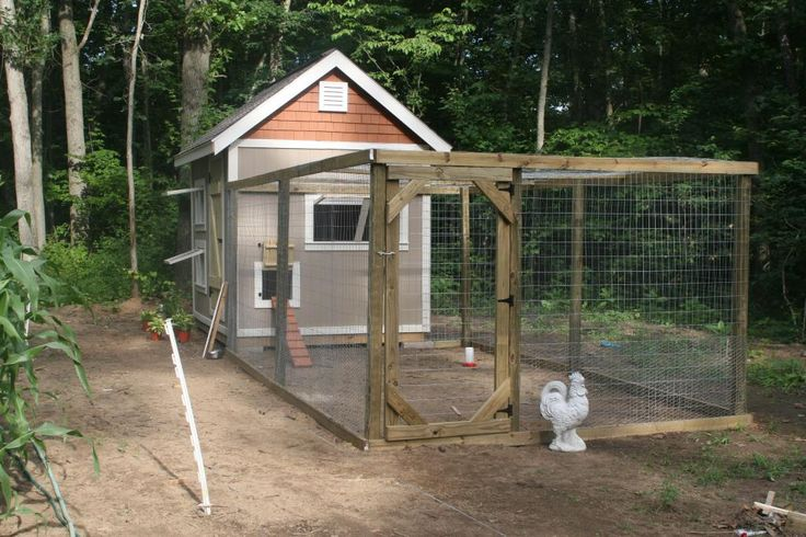 17 best chicken coops images on pinterest chicken coops for Homemade chicken house