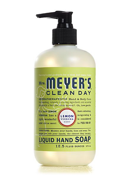 Mrs. Meyer's Clean Day Soap...smells fantastic and freshens the whole room where you wash your hands...