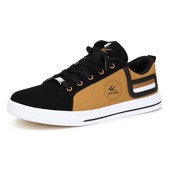 New Men Fashion Breathable Casual Low Top Lace Up PU Sport Shoes - US$22.08  men shoes fashion