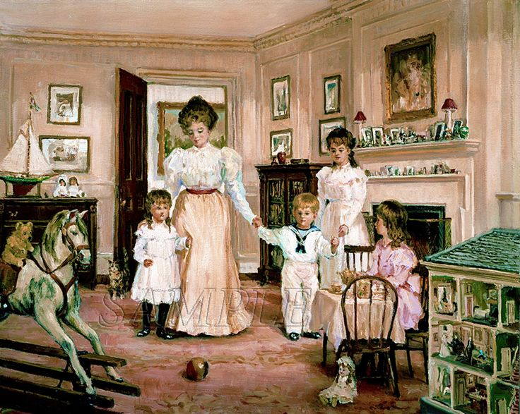 victorian nursery   title visiting the nursery available in canvas canvas price $ 189 00 ...