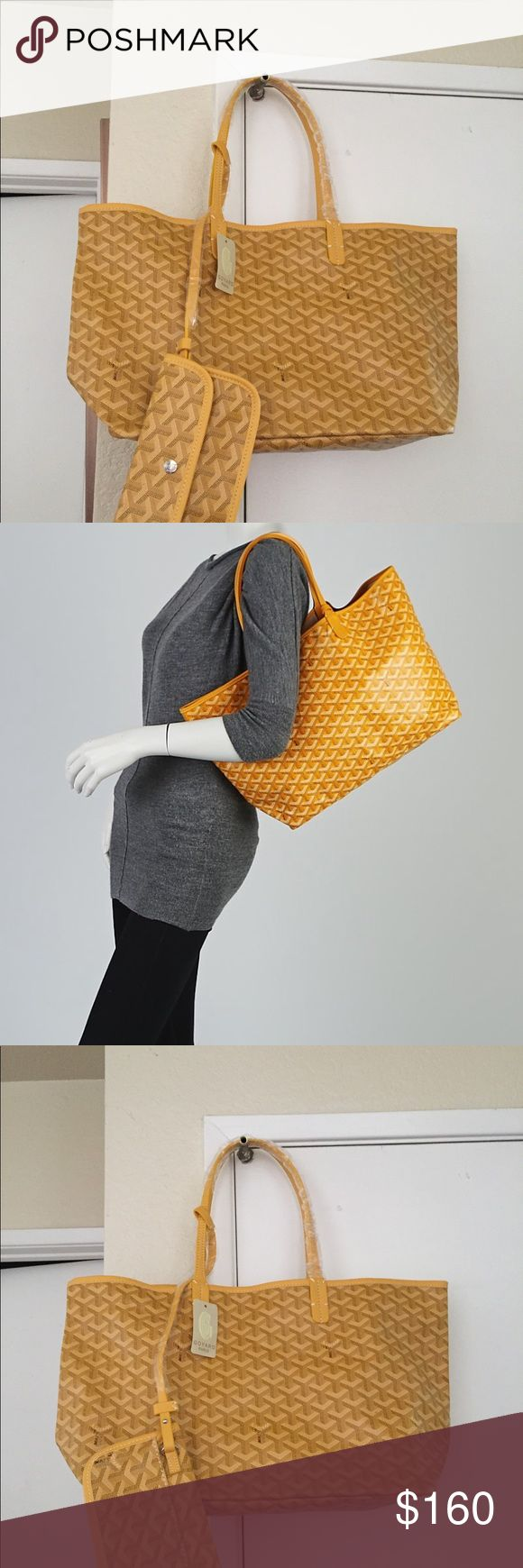 Brand new yellow pm bag New never used great quality yellow pm handbag with matching wallet price reflects this bag ask questions before purchase and more photos if needed. Includes purse and wallet also included is a brown goyard dust bag Goyard Accessories