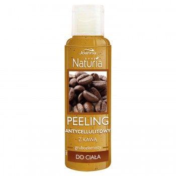 Peeling antycellulitowy z kawą Naturia body. Skóra jest oczyszczona i odświeżona, jędrna i elastyczna.