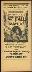 #CH119  - Extremely Rare Charlie Chaplain Silent Movie Handbill: Chaplain Silent, Vintage, 1919 Charlie, Chaplin Playbill, Movie, 1910S Items, Charlie Chaplin, Brother In Laws, Charlie Chaplain