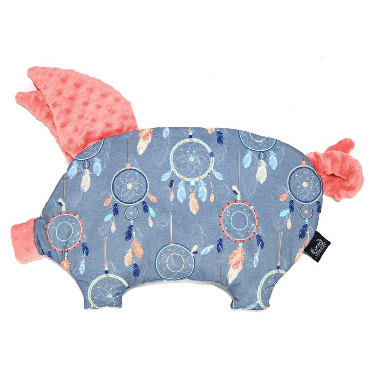 Sleepy Pig- Dream Catcher - Coral