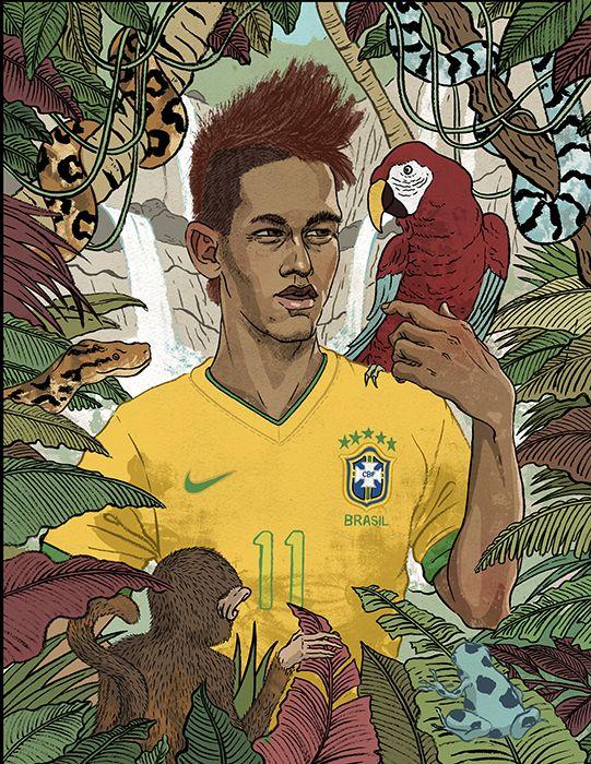 Neymar, by Meen Choi