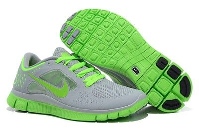 Nike Free Run 3 Womens New 7 5 Running Shoes Grey Green | eBay