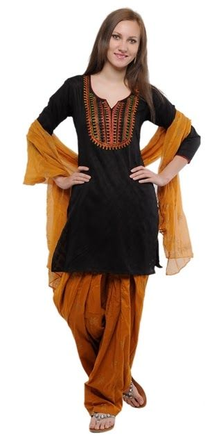 Patiala Salwar Kameez Designs 2014 for Girls