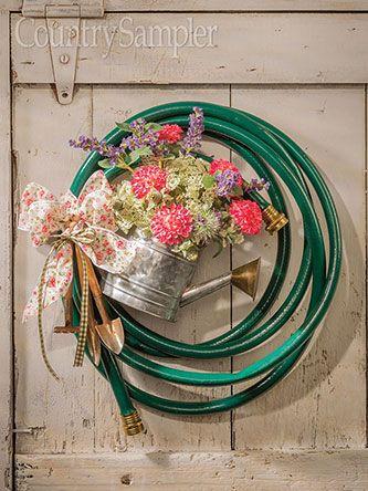 Coil a Garden Hose Wreath