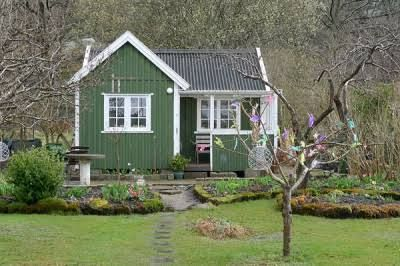 """I have attached a picture over a part of our city built up with tiny houses of different designs. This type of building in this type of area are called """"kolonistuga"""" and the tiny houses are called """"koloniområde."""""""