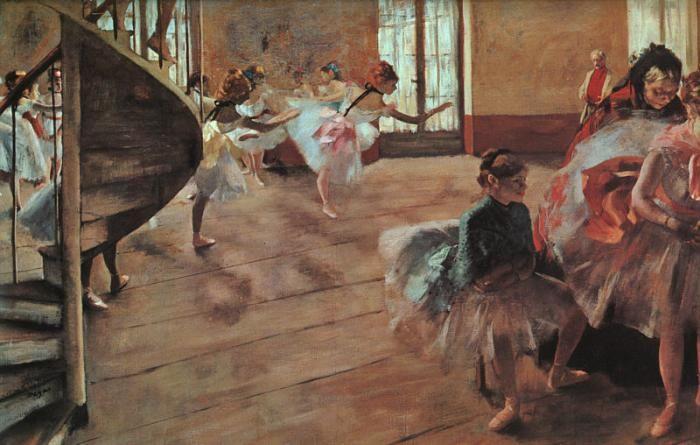 Edgar Degas: Oil On Canvas, 1877, Art History, 1874, Edgar Degas, Painting, Ballet Rehearsal