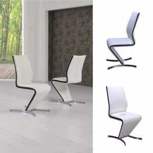 Isabella Z Chair White with Black Strip