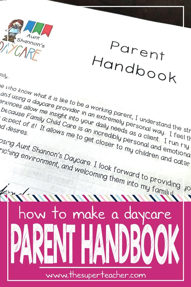 How to Make a Daycare Parent Handbook