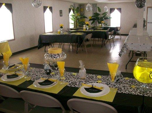 Yellow Black N White Paisley Birthday Party Ideas 50th
