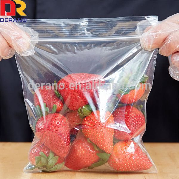 Food Storage Bag ziplock bags are designed with a resealable plastic zipper track. Consumers can easily close bags numerous times by pressing the zipper track.