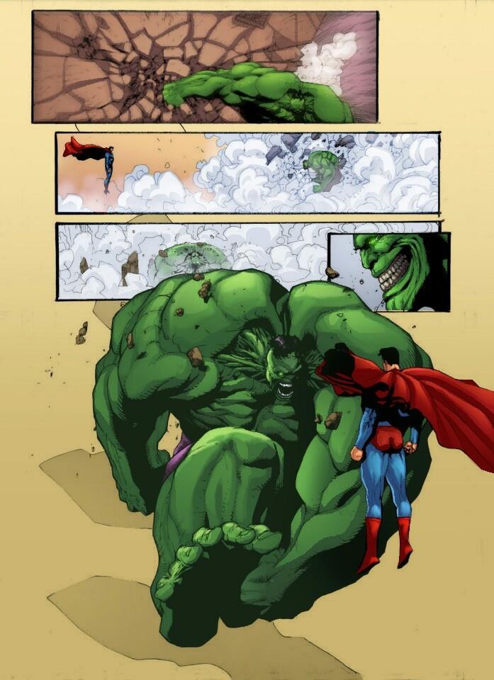 HULK vs. SUPERMAN by •Roy Allan Martínez