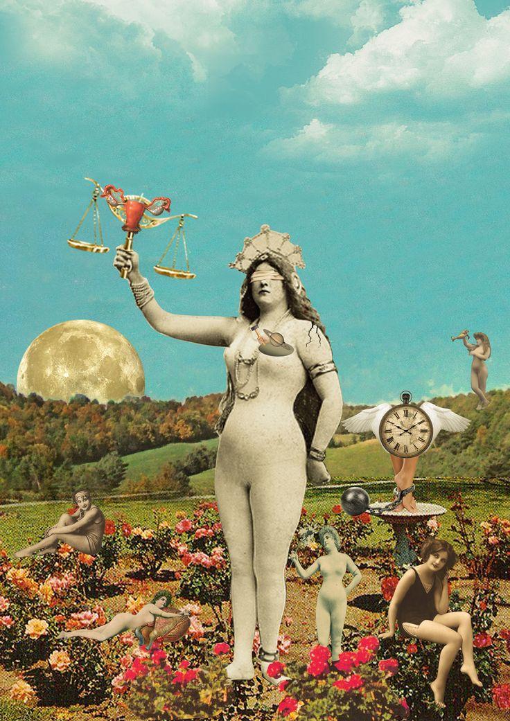 Women Justice Goddess. Hallelujah! #justice #women #goddess #collage #art #collageart #moon #feelings