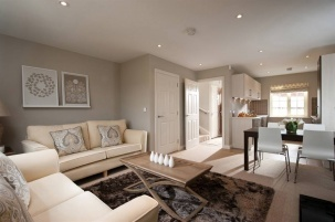 Cute open plan kitchen / dining/ living room