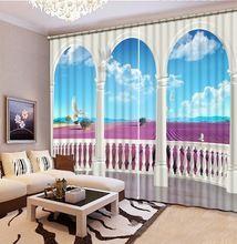 Занавес окна шторы для гостиной мраморный столб Моды 3d шторы Украшение Дома(China (Mainland))