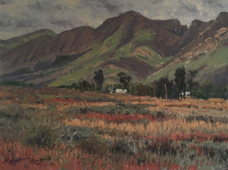 A Cloudy day  Oil on canvas  by Robert Koch