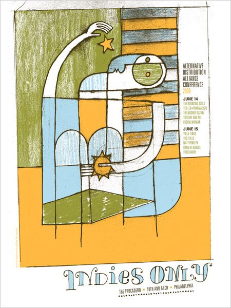 GigPosters.com - Band Of Horses - Bouncing Souls - Ted Leo And The Pharmacists - Stills, The - This Day And Age - Matt Pond Pa - Mooney Suzuki - Yo La Tengo. poster by http://thelargemammal.com