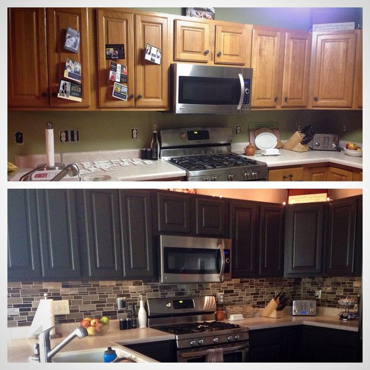 Kitchen Wall Colors With Oak Cabinets Designs Color Honey: Transform Honey-oak Cabinets To Sleek