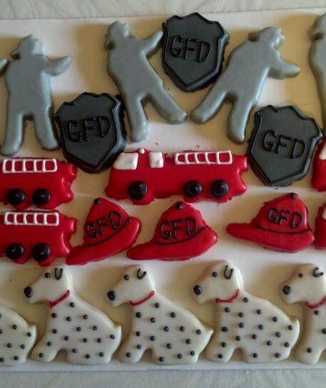 so cute! fireman cookies