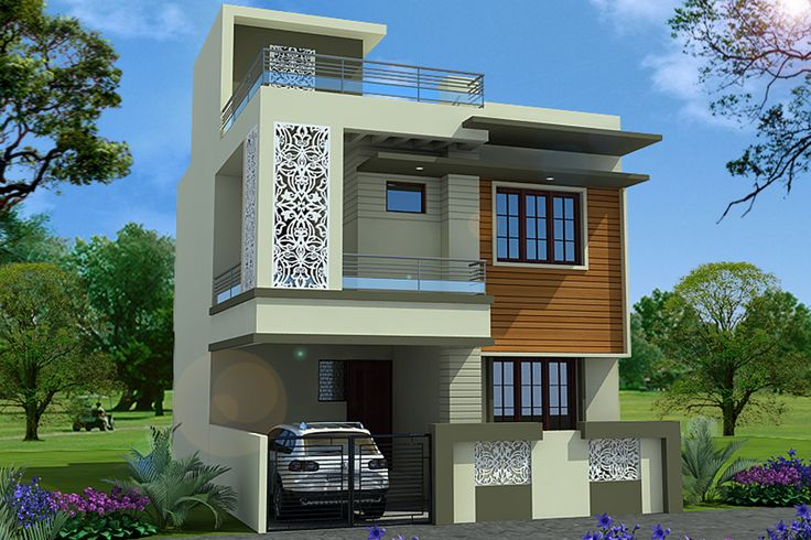 Front Elevation Of Houses In Uk : House plan elevation indian compact pinterest